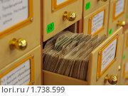 Выдвинутый ящик картотеки. Стоковое фото, фотограф Вячеслав Палес / Фотобанк Лори