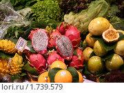 Экзотические фрукты на прилавке. Стоковое фото, фотограф Ирина Королева / Фотобанк Лори