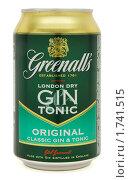 Купить «Банка алкогольного напитка Greenall's», фото № 1741515, снято 19 мая 2010 г. (c) Андрей Андреев / Фотобанк Лори