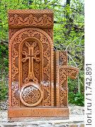 Купить «Средневековый армянский монастырь Сурб-Хач (Крым), хачкар», фото № 1742891, снято 7 мая 2010 г. (c) Parmenov Pavel / Фотобанк Лори