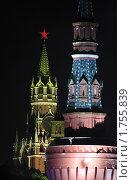 Купить «Москва, салют на 9 мая 2010 г», эксклюзивное фото № 1755839, снято 9 мая 2010 г. (c) Дмитрий Неумоин / Фотобанк Лори
