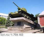 Купить «Памятник танку Т-34», фото № 1759183, снято 30 мая 2010 г. (c) Евгений Ткачёв / Фотобанк Лори