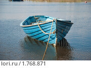Голубая деревянная лодка. Стоковое фото, фотограф Вероника Денега / Фотобанк Лори