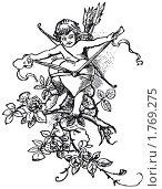 Купить «Купидон, связывающий два сердца», иллюстрация № 1769275 (c) Андрей Андреев / Фотобанк Лори