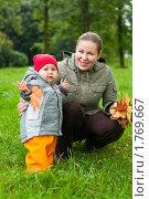 Купить «Прогулка в осеннем лесу», фото № 1769667, снято 19 сентября 2009 г. (c) Кекяляйнен Андрей / Фотобанк Лори