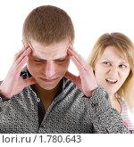 Купить «Женщина ругает мужчину», фото № 1780643, снято 20 января 2010 г. (c) Татьяна Гришина / Фотобанк Лори