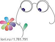 Очки и цветок. Стоковая иллюстрация, иллюстратор Oksana Boborykina / Фотобанк Лори