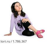 Купить «Мечтающая девочка», фото № 1786367, снято 13 июня 2010 г. (c) Татьяна Мельникова / Фотобанк Лори