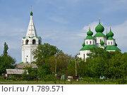 Колокольня и Воскресенский собор в Старочеркасске (2010 год). Стоковое фото, фотограф Борис Панасюк / Фотобанк Лори