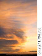 Вечернее небо. Стоковое фото, фотограф Екатерина Давыдова / Фотобанк Лори
