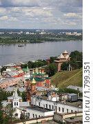 Купить «Вид на  Нижний Новгород у слиянии Оки и Волги в районе скобы», фото № 1799351, снято 15 июня 2010 г. (c) Igor Lijashkov / Фотобанк Лори