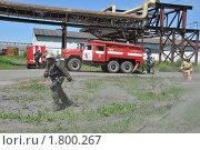 Купить «Развёртывание пожарной техники», эксклюзивное фото № 1800267, снято 10 июня 2010 г. (c) Free Wind / Фотобанк Лори