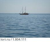 Яхта в море. Стоковое фото, фотограф Светлана Бородатая / Фотобанк Лори
