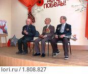 Выступление ветерана войны (2010 год). Редакционное фото, фотограф Юрий Зуев / Фотобанк Лори
