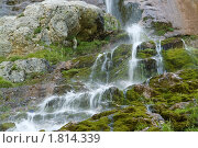 Гора Фишт, 200 метровый водопад. Кавказский Биосферный Заповедник (2008 год). Редакционное фото, фотограф Картавкин Артем / Фотобанк Лори