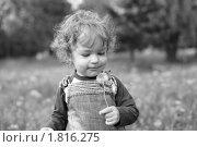Купить «Ребенок с одуванчиком», фото № 1816275, снято 11 мая 2010 г. (c) yarruta / Фотобанк Лори