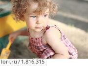 Купить «Ребенок в песочнице», фото № 1816315, снято 31 мая 2010 г. (c) yarruta / Фотобанк Лори