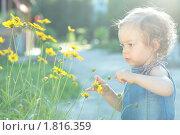 Купить «Маленький ребенок в лучах солнца», фото № 1816359, снято 10 июня 2010 г. (c) yarruta / Фотобанк Лори