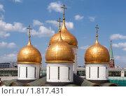 Купить «Купола Успенского собора, Московский Кремль, Москва, Россия», фото № 1817431, снято 4 июля 2010 г. (c) Николай Винокуров / Фотобанк Лори