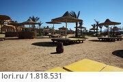Пляж, лежаки в отеле в Египте (2010 год). Стоковое фото, фотограф Бельская (Ненько) Анастасия / Фотобанк Лори