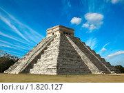 Купить «Пирамида майя Чичен-Ица, Мексика», фото № 1820127, снято 14 декабря 2008 г. (c) Дмитрий Рухленко / Фотобанк Лори