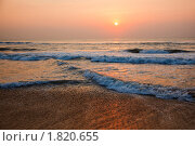 Рассвет на пляже. Стоковое фото, фотограф Дмитрий Рухленко / Фотобанк Лори