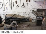 Купить «Старинный кузнечный мех», фото № 1823043, снято 20 мая 2010 г. (c) Михаил Котов / Фотобанк Лори