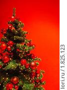 Красивая новогодняя елка с украшениями. Стоковое фото, фотограф Андрей Цалко / Фотобанк Лори