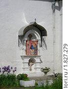 Купить «Настенная икона на Храме Покрова Пресвятой Богородицы в Братцево. Москва», эксклюзивное фото № 1827279, снято 23 мая 2010 г. (c) lana1501 / Фотобанк Лори