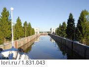 Купить «Шлюз на Волго-Балтийском канале», фото № 1831043, снято 29 июня 2010 г. (c) Марина Коробанова / Фотобанк Лори
