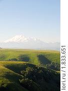 Купить «Вид на Эльбрус с перевала Кум-Баши», фото № 1833651, снято 11 июля 2010 г. (c) Анна Мартынова / Фотобанк Лори