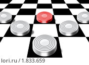 Купить «Шашки на шахматной доске», иллюстрация № 1833659 (c) Лищук Руслан Викторович / Фотобанк Лори