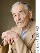 Купить «Пожилой мужчина», фото № 1833763, снято 28 марта 2010 г. (c) Воронин Владимир Сергеевич / Фотобанк Лори