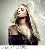 Купить «Красивая девушка с разлетающимися светлыми волосами», фото № 1837063, снято 23 марта 2005 г. (c) Майер Георгий Владимирович / Фотобанк Лори