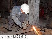 Купить «Газосварщик», фото № 1838643, снято 13 июля 2010 г. (c) Максим Попурий / Фотобанк Лори