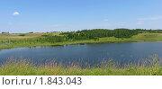 Купить «Пейзаж с озером», фото № 1843043, снято 10 июля 2010 г. (c) Валентина Троль / Фотобанк Лори