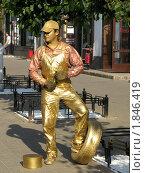 Человек в позолоте (2009 год). Редакционное фото, фотограф Сергей Поляков / Фотобанк Лори