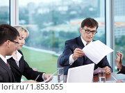 Купить «Бизнесмены в офисе», фото № 1853055, снято 17 июня 2010 г. (c) Raev Denis / Фотобанк Лори