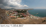 Панорама Судака.Крым (2009 год). Стоковое фото, фотограф Наталья Гребенюк / Фотобанк Лори