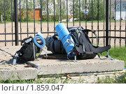 Туристские рюкзаки. Стоковое фото, фотограф Елена Боброва / Фотобанк Лори