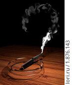 Купить «Черная электронная сигарета в пепельнице», иллюстрация № 1876143 (c) Андрей Андреев / Фотобанк Лори