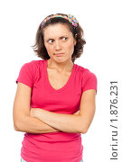 Купить «Портрет серьезной девушки», фото № 1876231, снято 21 июля 2010 г. (c) Давид Мзареулян / Фотобанк Лори