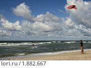 Кайтсерфинг на Балтике. Стоковое фото, фотограф Алина / Фотобанк Лори