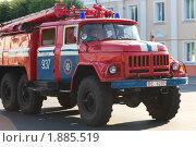 Купить «Пожарная машина города Орши», фото № 1885519, снято 17 июля 2010 г. (c) Донцов Евгений Викторович / Фотобанк Лори