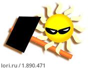 Купить «Солнце с молотком», иллюстрация № 1890471 (c) Юрий Жеребцов / Фотобанк Лори