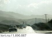 Купить «Аризона. Дождь по дороге в Джером (Jerome)», фото № 1890887, снято 24 мая 2009 г. (c) Julia Nelson / Фотобанк Лори
