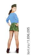 Купить «Сексуальная девушка, одетая в стиле милитари», фото № 1896095, снято 5 июля 2010 г. (c) Дарья Филимонова / Фотобанк Лори