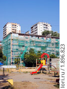 Купить «Капитальный ремонт многоквартирных домов по немецкой технологии», фото № 1896823, снято 11 августа 2010 г. (c) Анна Мартынова / Фотобанк Лори