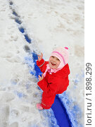 Купить «Девочка в красной куртке», фото № 1898299, снято 29 марта 2010 г. (c) Никонор Дифотин / Фотобанк Лори