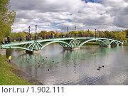 Купить «Пруд и мост в Царицыно, Москва», фото № 1902111, снято 3 октября 2009 г. (c) Fro / Фотобанк Лори